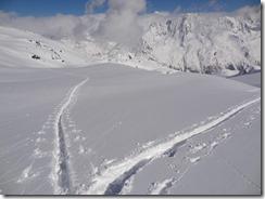 Jamais je n'ai été aussi heureux de rejoindre une trace ^^. J'ai eu l'impression que mes skis avancaient d'un coup tout seul ^^