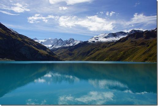 Depuis le barrage de Moiry, Au loin le Glacier de Moiry !! C'est toujours aussi magnifique et fort..